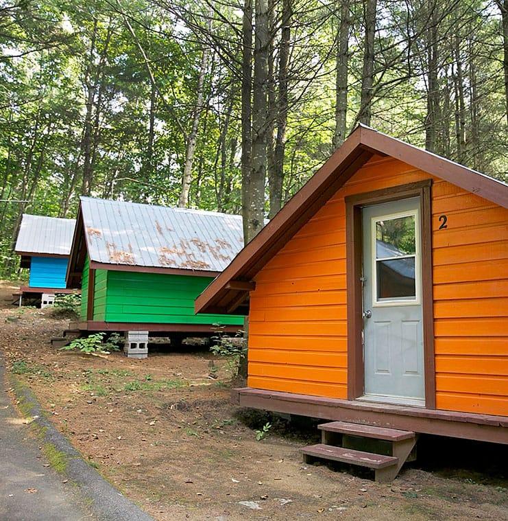 Camping et hébergement | Rafting Nouveau Monde | Rafting en eau vive sur la rivière Rouge