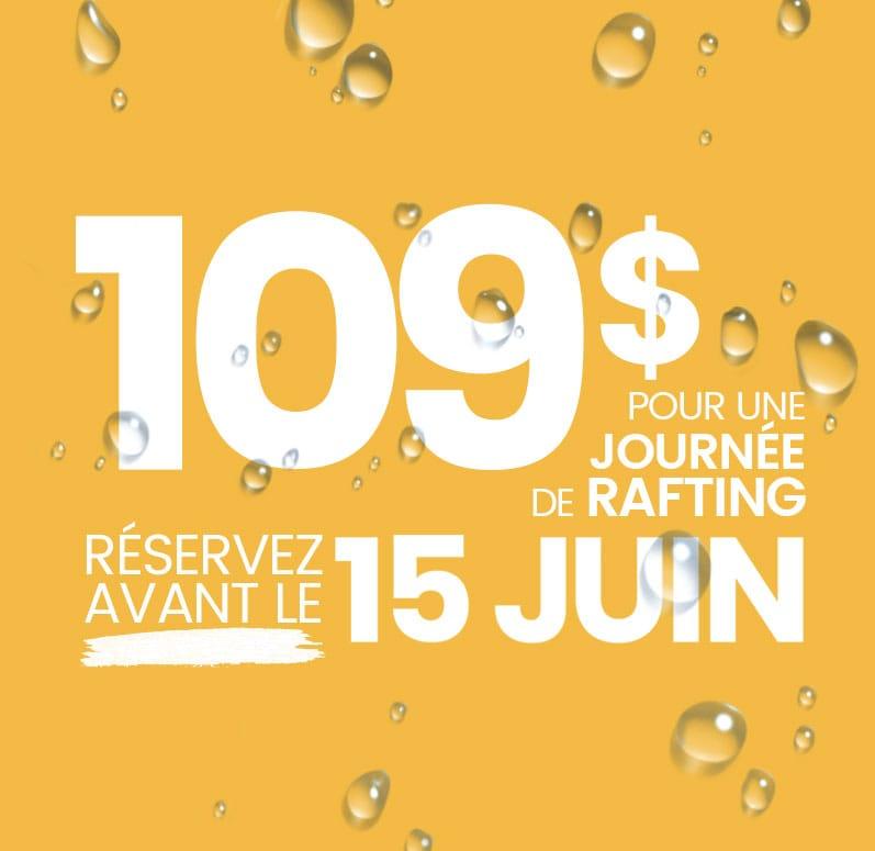 Rafting Nouveau Monde | Promotion | 109$